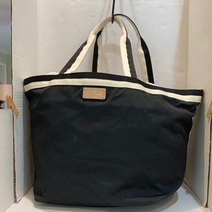 Kate Spade Black and White Oversized Canvas Tote